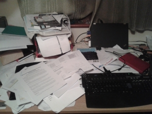 Seriously messy desk