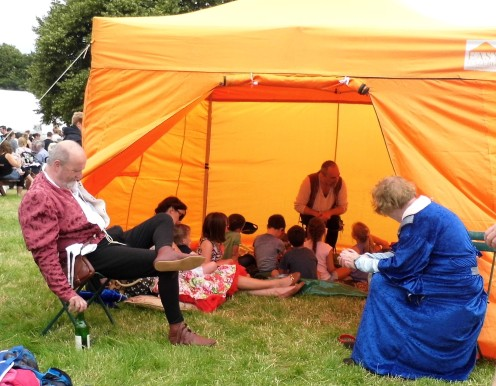 A tent full of engrossed children. Well done, that storyteller!